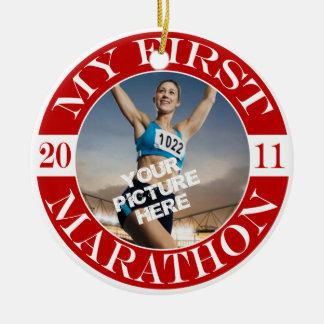 My First Marathon - 2011 Christmas Ornament