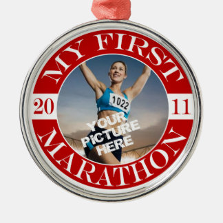 My First Marathon - 2011 Christmas Ornament
