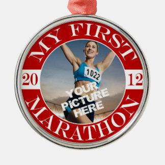 My First Marathon - 2012 Christmas Ornament