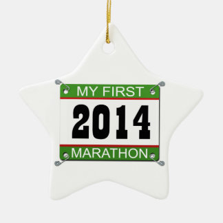 My First Marathon - 2014 Christmas Ornament