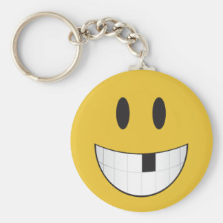 My first missing tooth emoji basic round button key ring