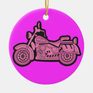 My First Pink Motorcycle Christmas Ornament