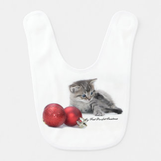 My First Purrfect Christmas Bib