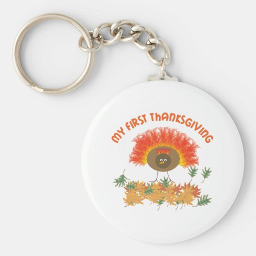 My First Thanksgiving Keychains