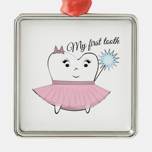 My First Tooth Christmas Ornaments