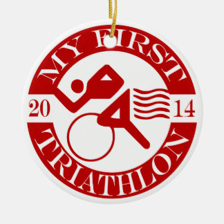 My First Triathlon Ornament - 2014