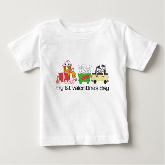 My First Valentines Day Train Baby T-Shirt