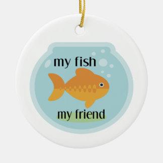 My Fish My Friend Round Ceramic Decoration