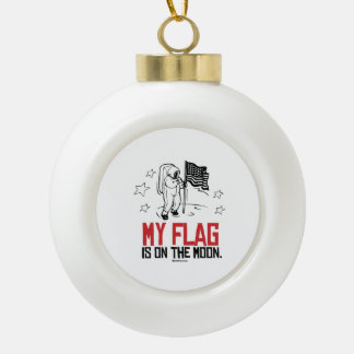 My Flag is on the moon Ceramic Ball Decoration