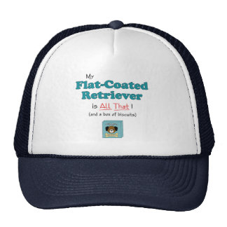 My Flat-Coated Retriever is All That! Mesh Hat