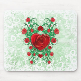 My Floral Heart - mousepad