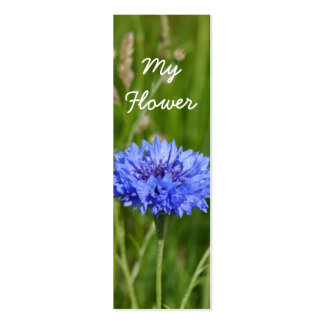 My Flower Beautiful Blue Cornflower bookmark pack Business Card Templates