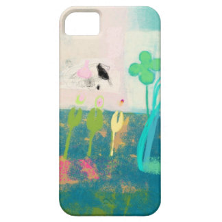 My flower garden with birds and butterflies iPhone 5 cover