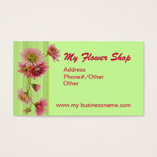 MY FLOWER SHOP by SHARON SHARPE Business Card