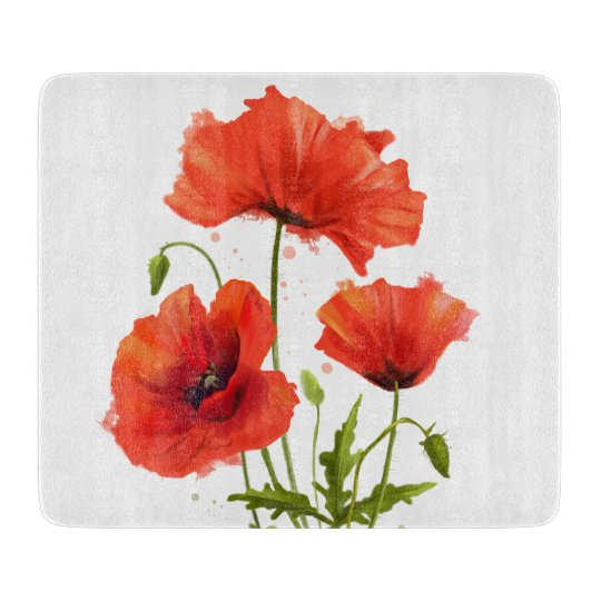 My flowers poppies cutting board zazzle my flowers poppies cutting board mightylinksfo