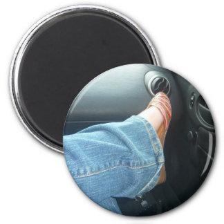 my foot 6 cm round magnet