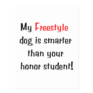 My Freestyle Dog is Smarter Postcards