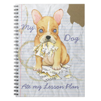 My French Bulldog Ate My Lesson Plan Spiral Notebook
