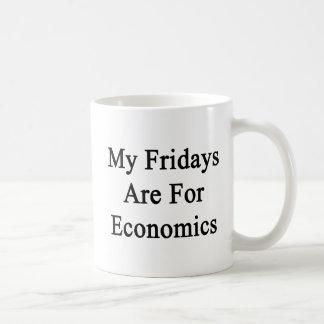 My Fridays Are For Economics Basic White Mug