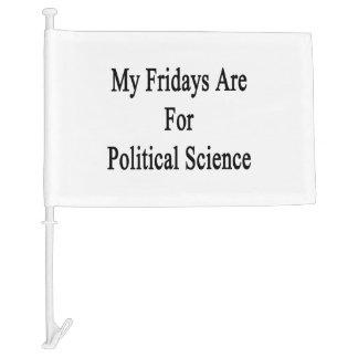 My Fridays Are For Political Science Car Flag