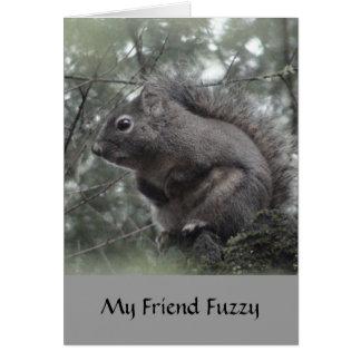 My Friend Fuzzy Note Card