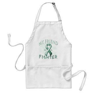 My Friend is a Fighter Teal Standard Apron