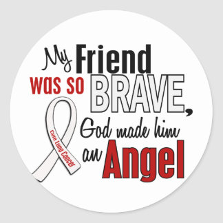 My Friend Is An Angel Lung Cancer Classic Round Sticker