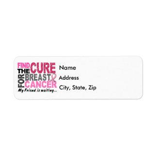 My Friend Is Waiting Breast Cancer Return Address Label