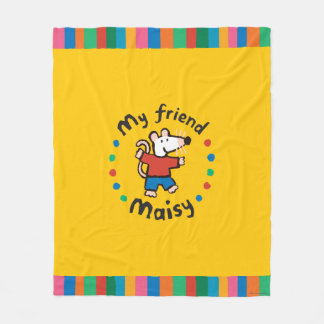 My Friend Maisy Colorful Circle Design Fleece Blanket