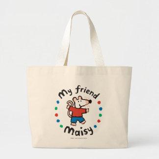 My Friend Maisy Colorful Circle Design Jumbo Tote Bag