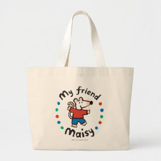 My Friend Maisy Colorful Circle Design Large Tote Bag