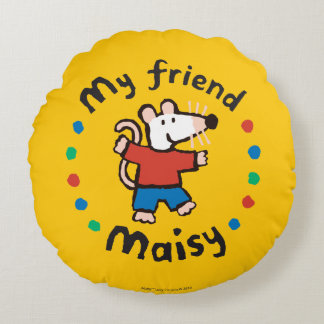 My Friend Maisy Colorful Circle Design Round Cushion