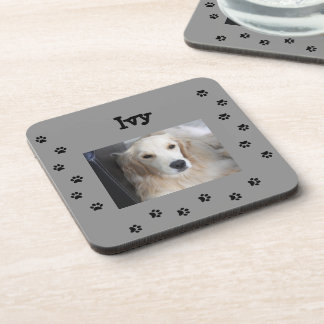 My Fur Baby and Paw Prints Beverage Coaster