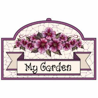 """My Garden"" - Decorative Sign - 07 Standing Photo Sculpture"