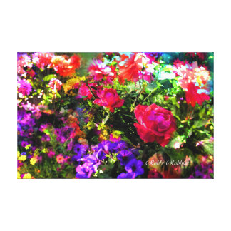 My Garden Stretched Canvas Print
