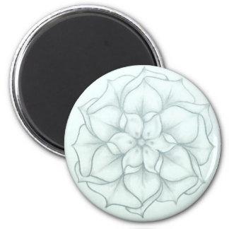 My Gardenia (#19) 6 Cm Round Magnet
