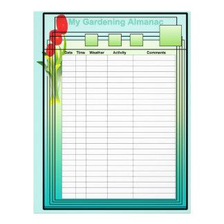 My Gardening Almanac Paper Flyers