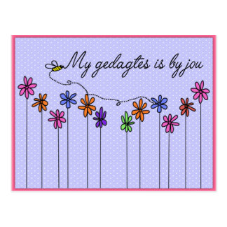 My gedagtes is by jou postcard