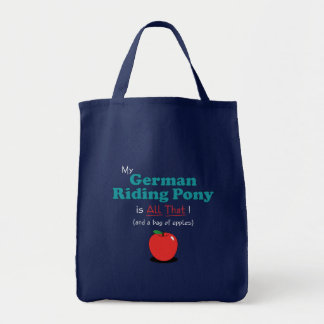 My German Riding Pony is All That! Funny Pony Tote Bag
