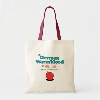 My German Warmblood is All That! Funny Horse Budget Tote Bag