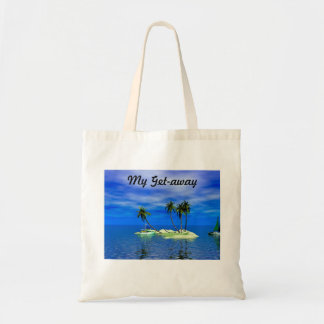My Get-Away Tropical Island Beach Tote Bag