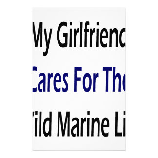 My Girlfriend Cares For The Wild Marine Life Customized Stationery