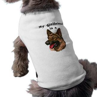 My Girlfriend is a German Shepherd Doggie T Shirt