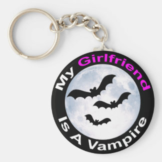 My Girlfriend Is A Vampire Basic Round Button Key Ring