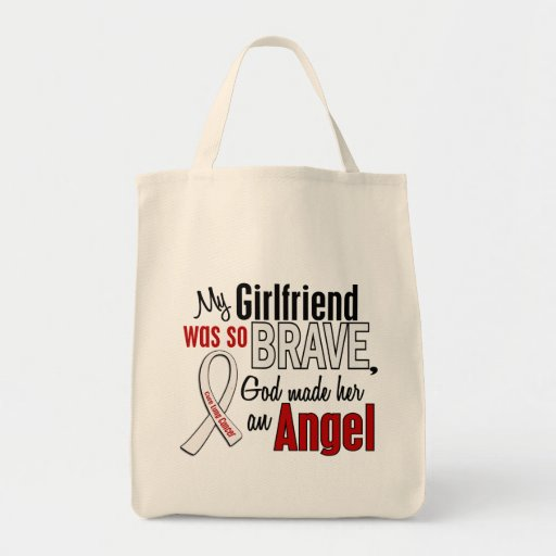 My Girlfriend Is An Angel Lung Cancer Canvas Bags