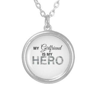 My Girlfriend is my Hero Digital Camouflage Round Pendant Necklace