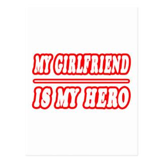 My Girlfriend Is My Hero Postcard