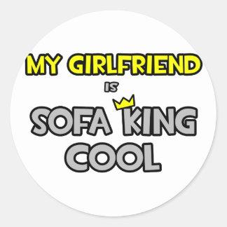 My Girlfriend Is Sofa King Cool Sticker