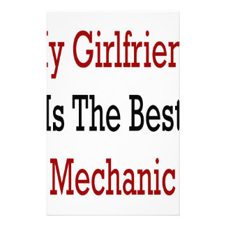 My Girlfriend Is The Best Mechanic Stationery Design