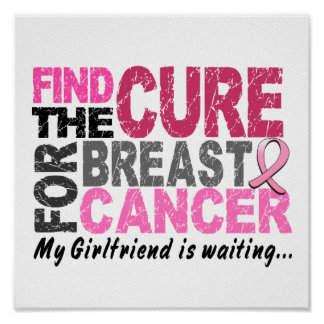 My Girlfriend is Waiting Breast Cancer Poster